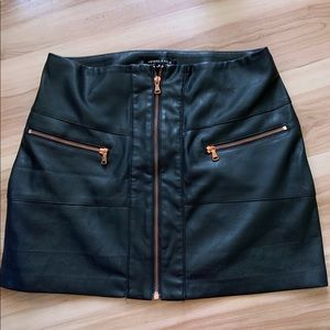 Kendall & Kylie Leather Skirt